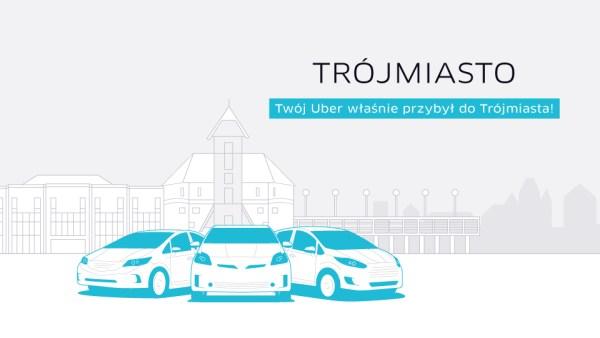 Uber jeździ także w Trójmieście