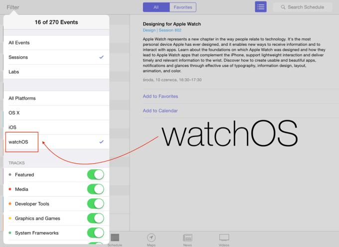 watchOS na WWDC15