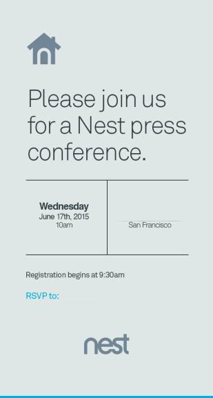 Zaproszenie na konferencję prasową Nest (17.06.2015 g. 10.00)