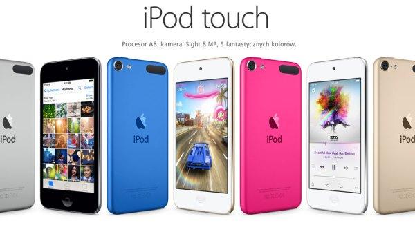 Nowe iPody touch w sześciu kolorach