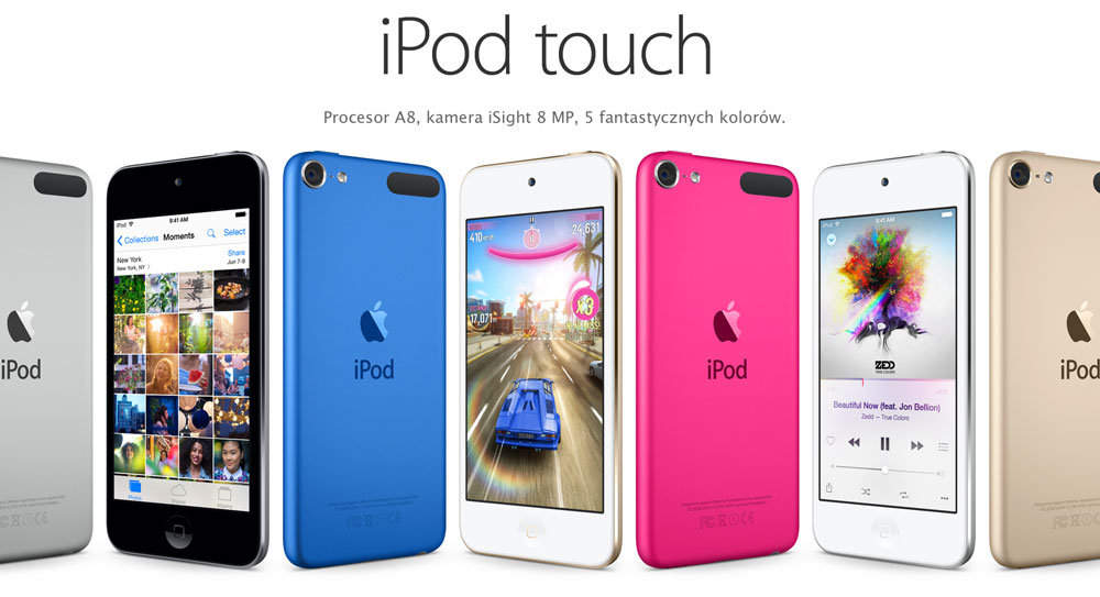 iPod touch 2015 w 6 kolorach
