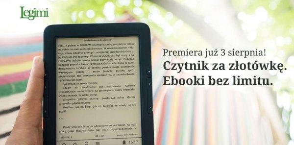 Czytnik za 1 zł i e-booki bez limitu od Legimi