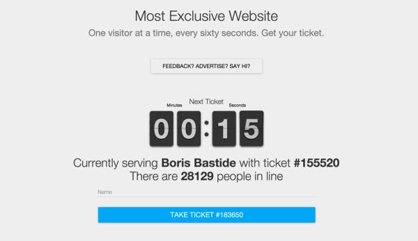W internecie jest strona, do której trzeba czekać w kolejce