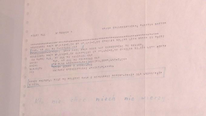 Pierwszy polski e-mail wysłany 17 lipca 1990 r. przez Tadeusza Węgrzynowskiego