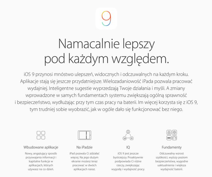 Polskie strony poświęcone systemowi mobilnemu iOS 9