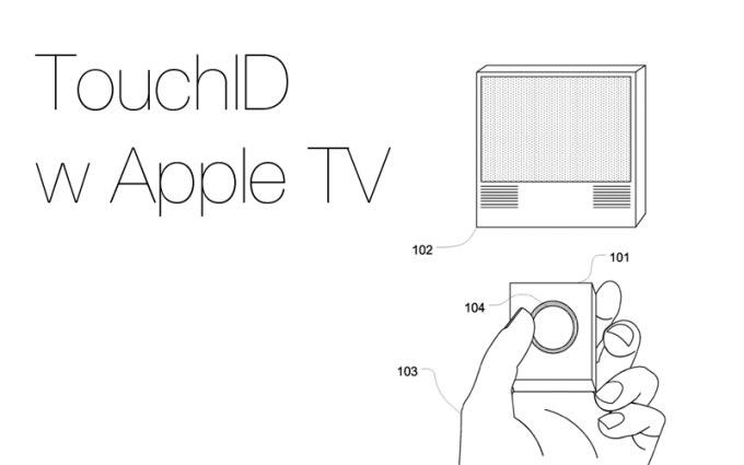 Czujnik TouchID w pilocie do Apple TV