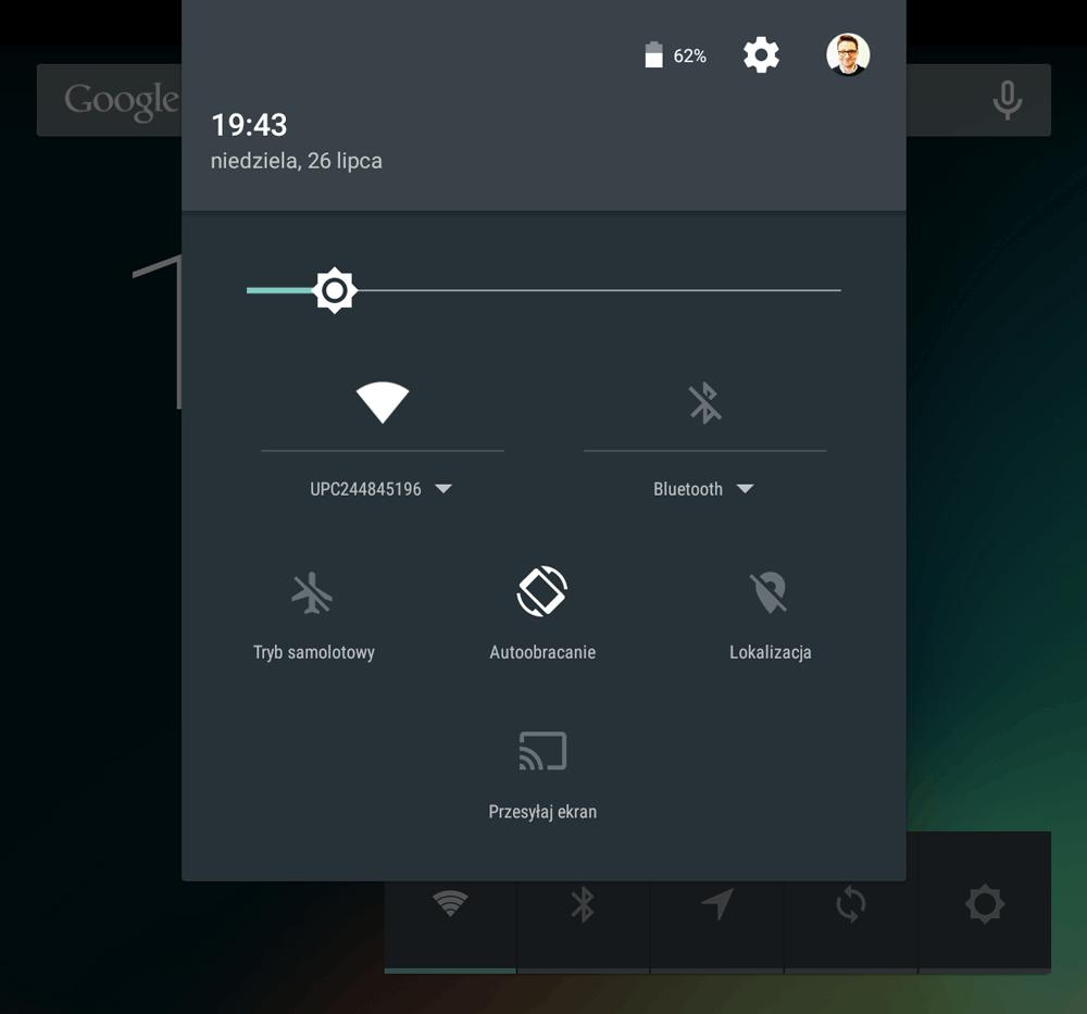 Instrukcja zmiany zdjęcia profilowego w Androidzie (krok 1)