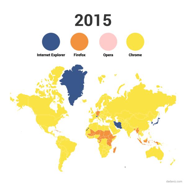Mapy popularności przeglądarek