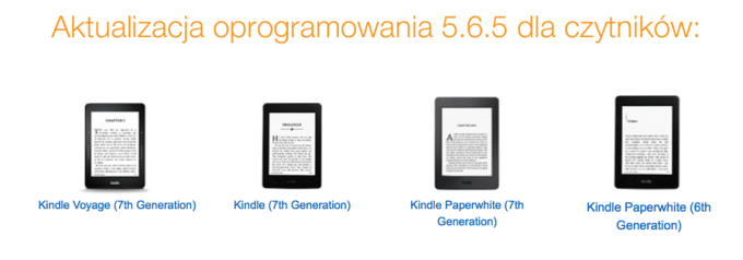 Kindle Sotware Update 5.6.5 dostępne dla modeli