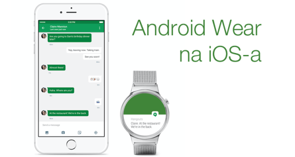 Android Wear działa na iPhone'ie