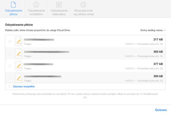 Jak przywrócić usunięte kontakty i dane z iCloud