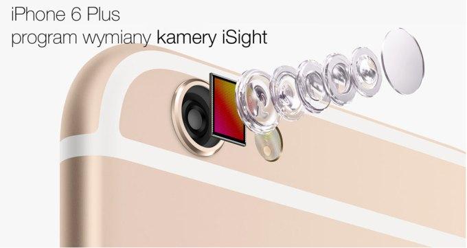 Program wymiany kamery iSight w iPhone'ie 6 Plus