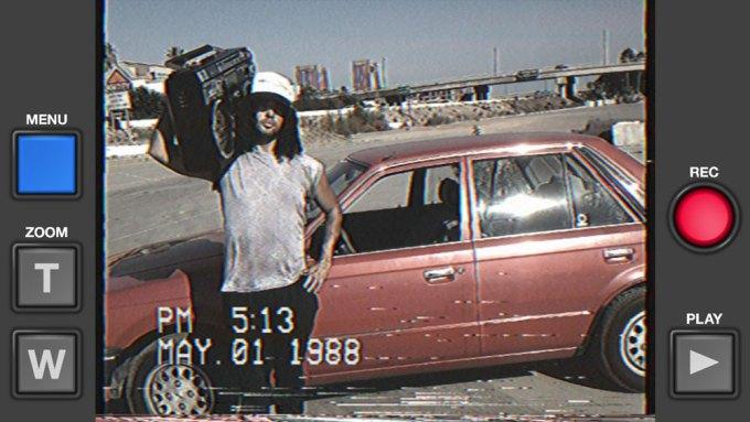 Aplikacja nagrywająca filmy w jakości VHS