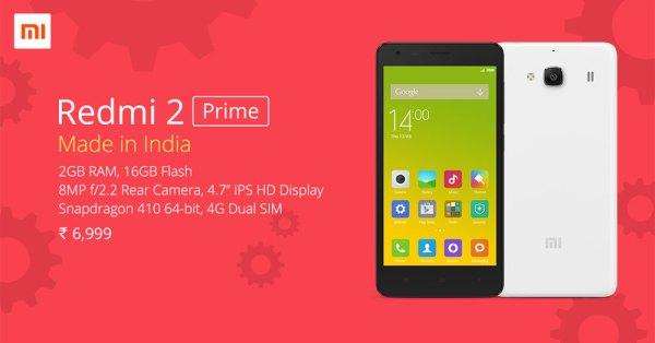 Redmi 2 Prime od Xiaomi dostępny w sprzedaży
