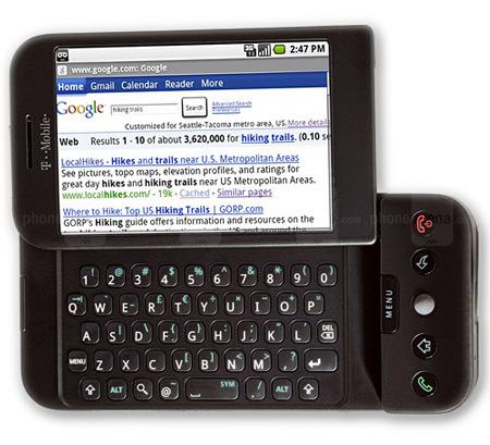 T-Mobile G1 - pierwszy smartfon z Androidem (black)