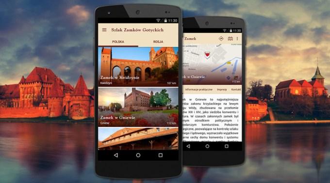 Aplikacja mobilna: Szlak zamków gotyckich