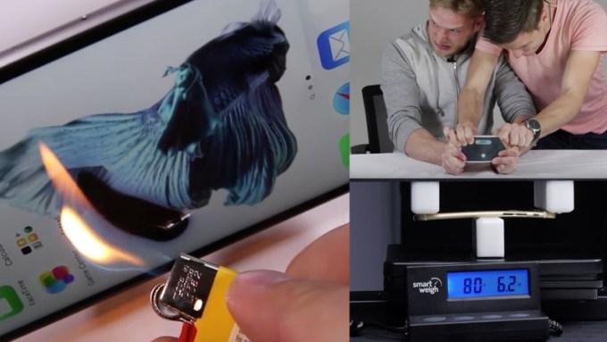 Seria testów wytrzymałościowych iPhone'a 6s i 6s Plus