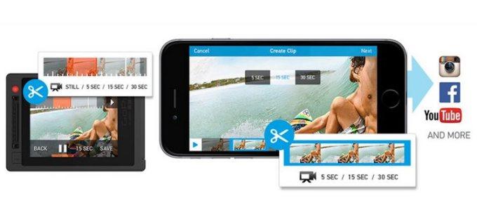 Tworzenie krótkich klipów za pomocą GoPro