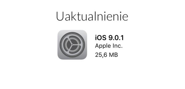 iOS 9.0.1 udostępniony do pobrania