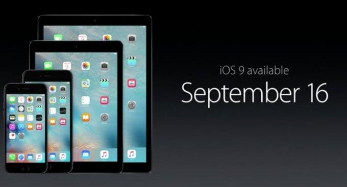 iOS 9 juz 16 września 2015