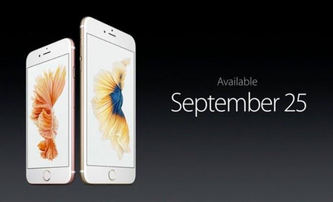 iPhone 6s w sprzedaży od 25 września