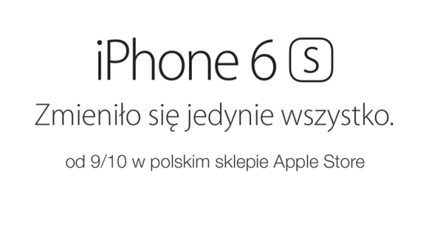 Nowy iPhone 6s i 6s Plus w polskim Apple Storze
