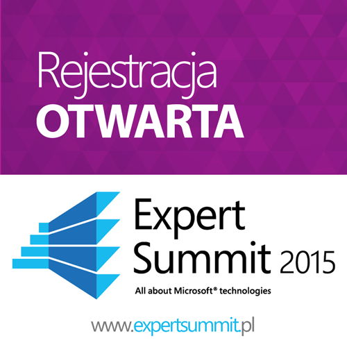 Rejestracja na Expert Summit 2015