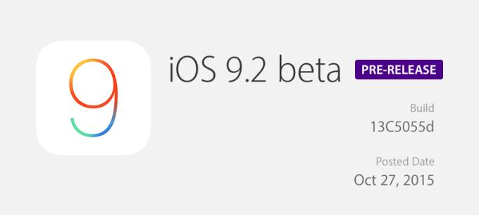 iOS 9.2 beta 1 dla deweloperów