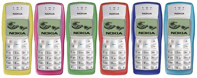 Kolorowe obudowy telefonu Nokia 1100