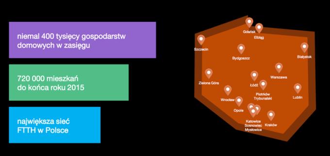 Mapa dostepności internetu Supernova.