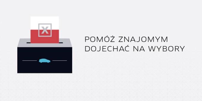 Uber - akcja promocyjna #JadeNaWybory