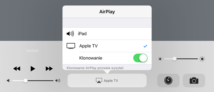 AirPlay - klonowanie obrazu na Apple TV 4. generacji