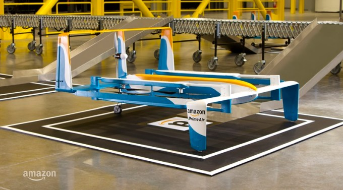 Nowy prototyp drona Amazon Prime Air (listopad 2015)