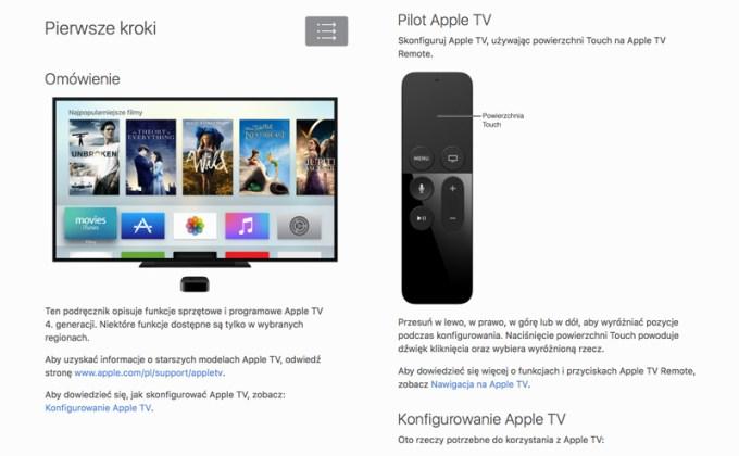 Appl TV 4. gen. - Podręcznik użytkownika - Pierwsze kroki