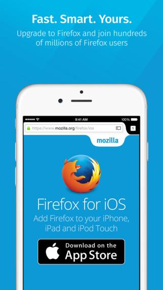 Firefox na iOS-a (screen aplikacji)
