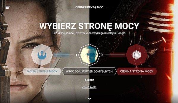 Google zmienia się dla fanów Gwiezdnych Wojen