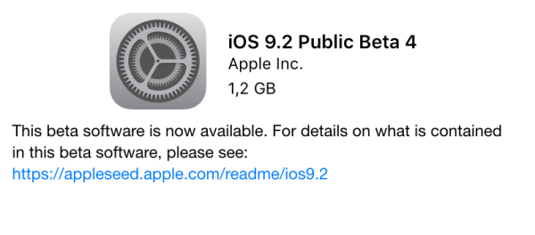 iOS 9.2 beta 4 do pobrania