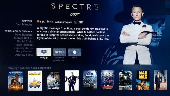 iTunes Movies na nowym Apple TV już działa w Polsce