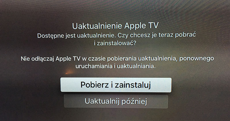 tvOS 9.0.1 dla nowego Apple TV
