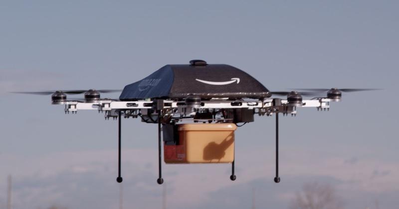 Wcześniejszy prototyp drona Amazon Prime Air