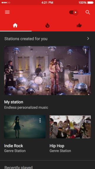 YouTube Music screen