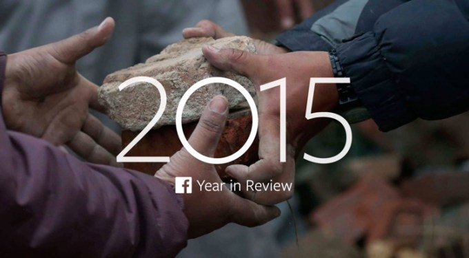 Year in Review 2015 na Facebooku
