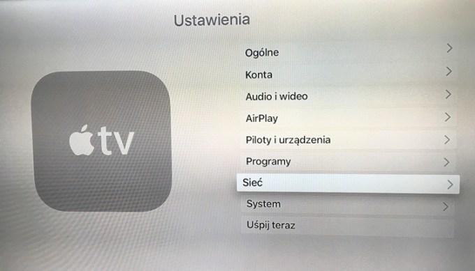 Ustawienia w Apple TV
