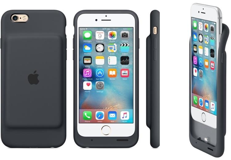 Etui Apple Smart Battery Case grafitowe na iPhone'a 6 i 6s