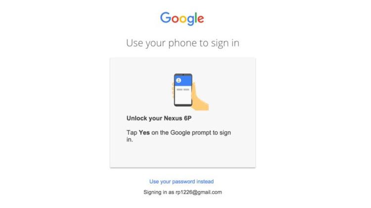 Logowanie do konta Google przy użyciu smartfona