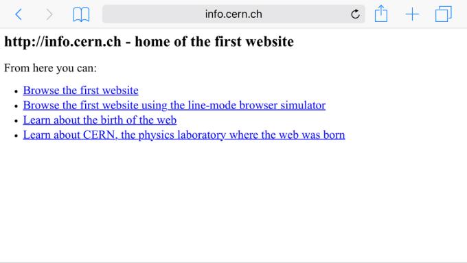 Pierwsza strona internetowa (WWW) z 20 grudnia 1990 roku
