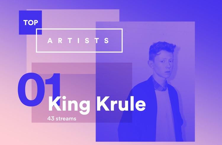 Year in Music 2015 - Spotify (Top Artist - King Krule)