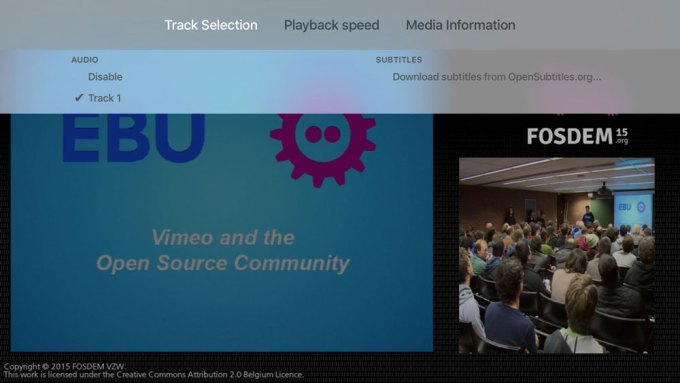 Pobieranie napisów do filmu przez VLC na Apple TV