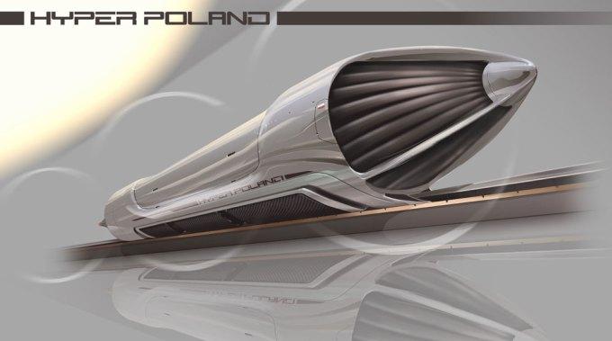 Hyperloop Pod zaprojektowany przez Hyper Poland
