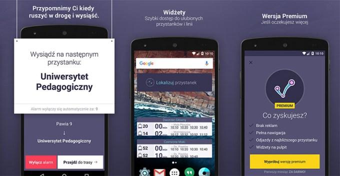 Aplikacja mobilna jakdojade.pl na Androida